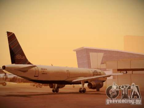 Airbus A321-232 jetBlue Red White and Blue для GTA San Andreas вид сзади слева