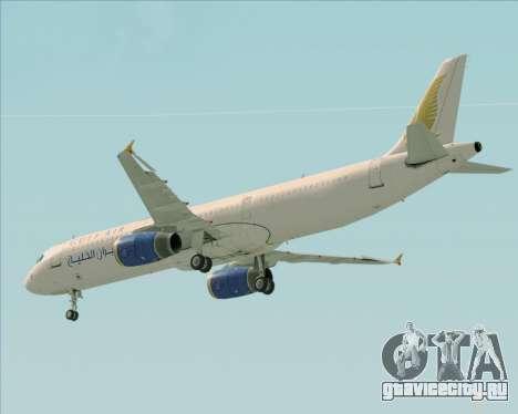 Airbus A321-200 Gulf Air для GTA San Andreas колёса