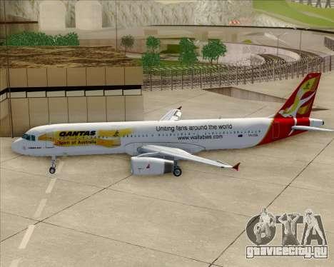 Airbus A321-200 Qantas (Wallabies Livery) для GTA San Andreas вид снизу
