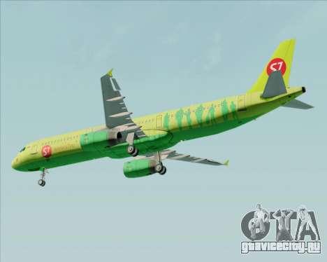 Airbus A321-200 S7 - Siberia Airlines для GTA San Andreas вид сбоку