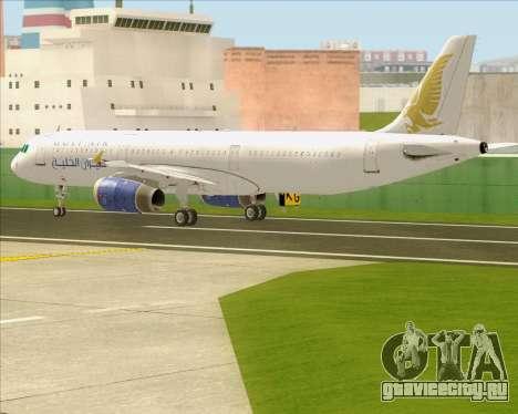 Airbus A321-200 Gulf Air для GTA San Andreas вид сбоку