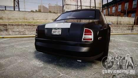 Rolls-Royce Phantom EWB для GTA 4 вид сзади слева