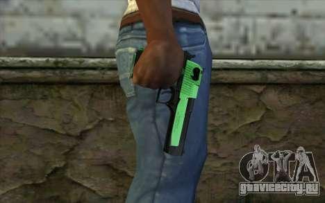 Зеленый Desert Eagle для GTA San Andreas третий скриншот