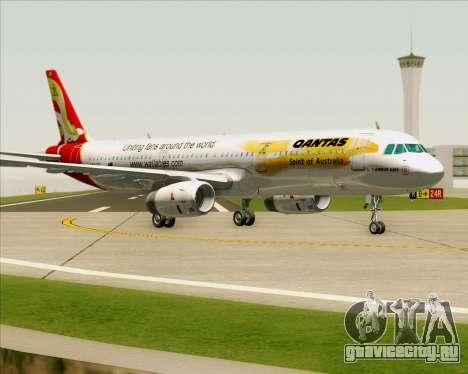 Airbus A321-200 Qantas (Wallabies Livery) для GTA San Andreas вид слева