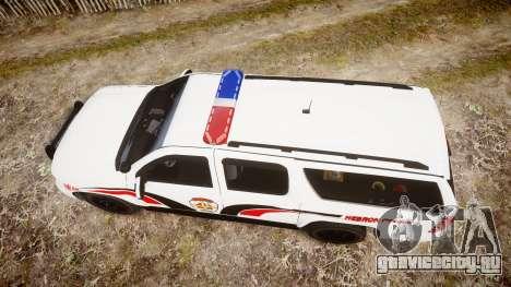 Chevrolet Suburban 2008 Police [ELS] Red & Blue для GTA 4 вид справа