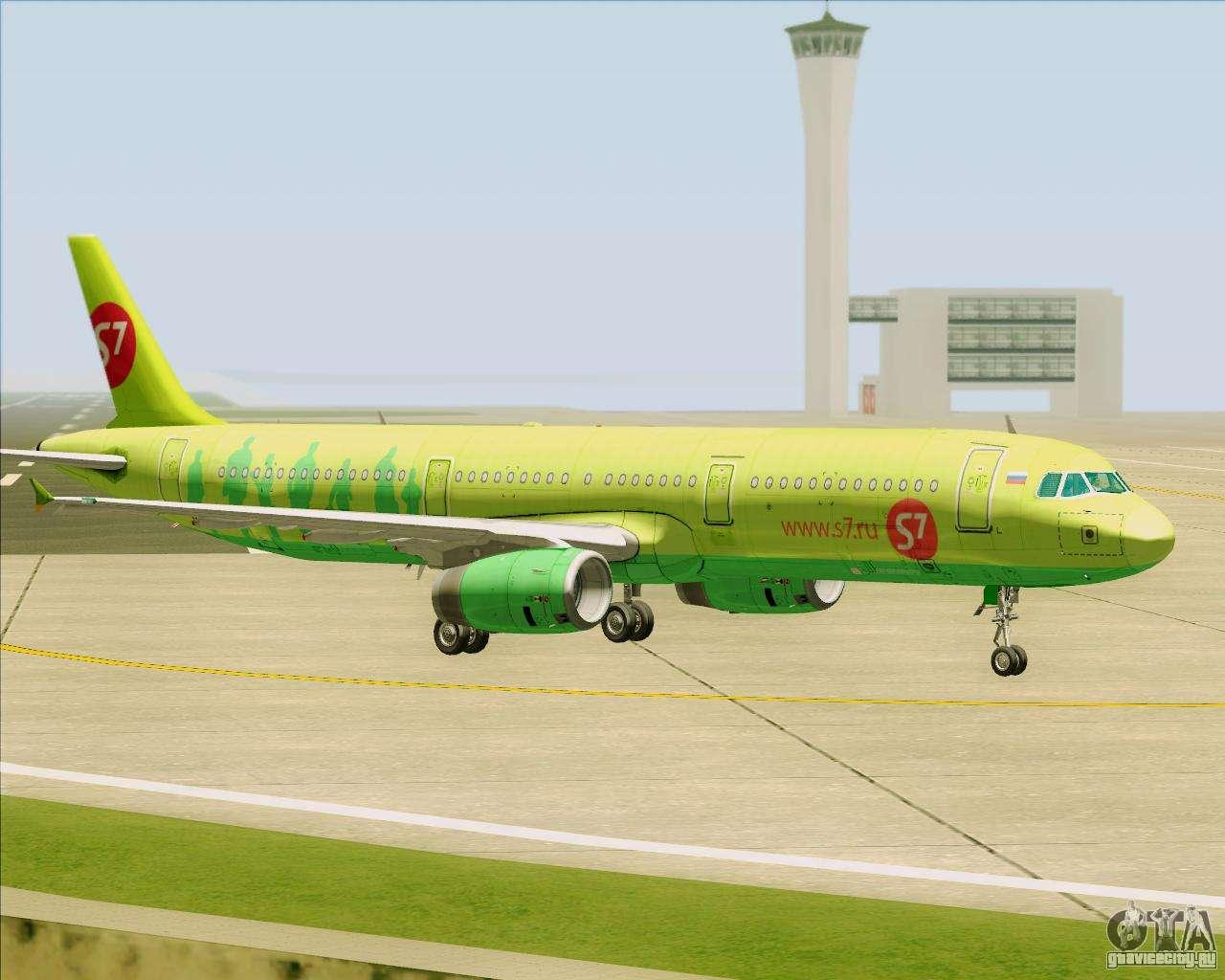 S7 airlines airbus a321 схема