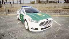 Ford Mondeo 2014 Guardia Civil Cops [ELS] для GTA 4