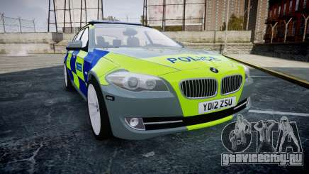 BMW 530d F11 Metropolitan Police [ELS] SEG для GTA 4