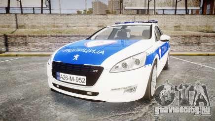 Peugeot 508 Republic of Srpska [ELS] для GTA 4