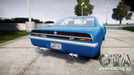 GTA V Declasse Vigero для GTA 4 вид сзади слева