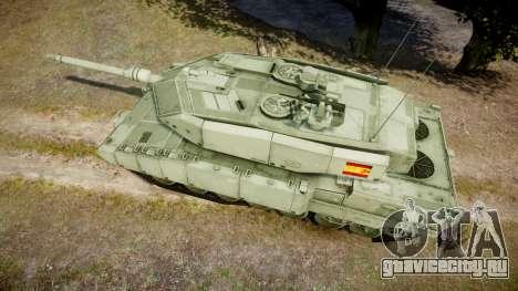 Leopard 2A7 ES Green для GTA 4 вид справа