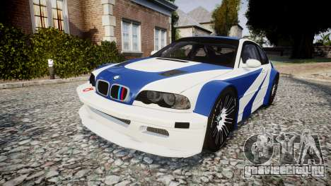 BMW M3 E46 GTR Most Wanted plate NFS для GTA 4