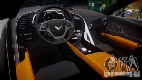 Chevrolet Corvette C7 Stingray 2014 v2.0 TireMi3 для GTA 4 вид изнутри