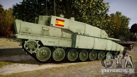 Leopard 2A7 ES Green для GTA 4 вид слева