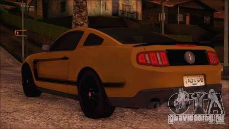 Ford Mustang Boss 302 2012 для GTA San Andreas вид слева