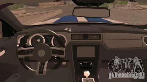 Ford Mustang GT 2012 для GTA San Andreas вид сзади слева