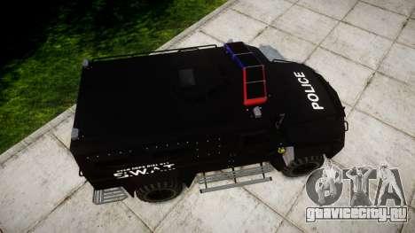 SWAT Van [ELS] для GTA 4 вид справа