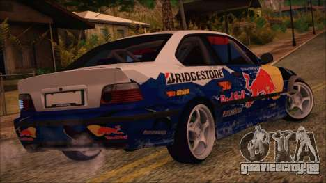 BMW E36 Coupe Bridgestone Red Bull для GTA San Andreas вид слева
