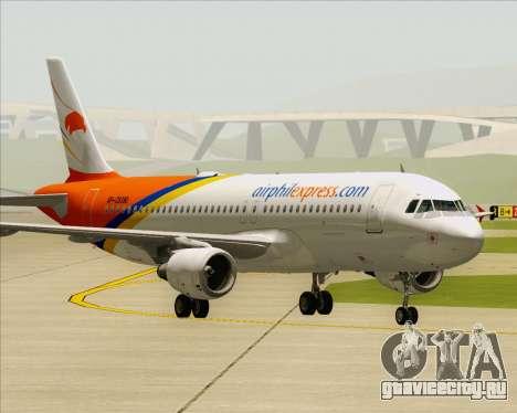 Airbus A320-200 Airphil Express для GTA San Andreas вид сзади слева
