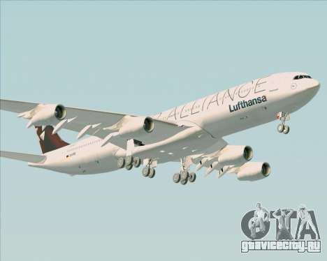 Airbus A340-300 Lufthansa (Star Alliance Livery) для GTA San Andreas вид изнутри