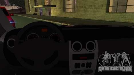 Dacia Logan Kys для GTA San Andreas вид сзади слева