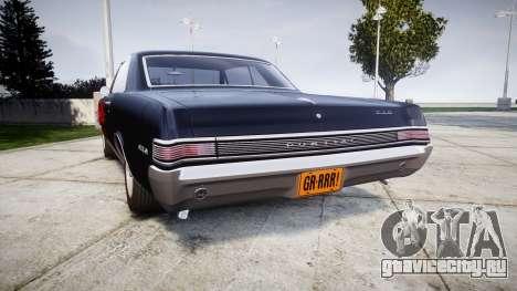 Pontiac GTO 1965 Flames для GTA 4 вид сзади слева
