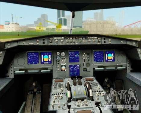 Airbus A340-300 Lufthansa (Star Alliance Livery) для GTA San Andreas салон