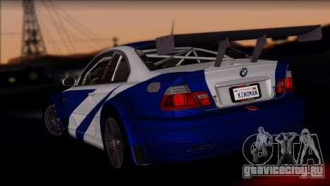 BMW M3 E46 GTR для GTA San Andreas вид справа