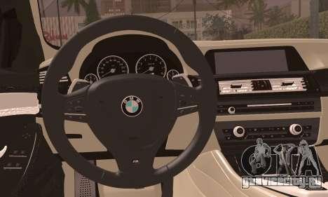 BMW 520d 2012 для GTA San Andreas вид сзади слева