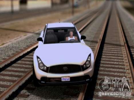 Fathom FQ2 GTA V для GTA San Andreas вид слева