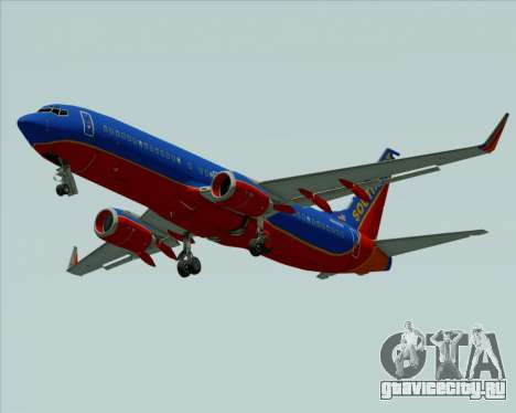 Boeing 737-800 Southwest Airlines для GTA San Andreas вид изнутри