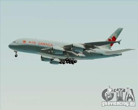 Airbus A380-800 Air Canada для GTA San Andreas вид сверху