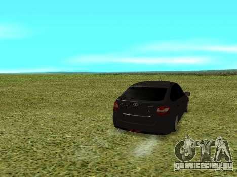 Lada Granta Kalina 2 для GTA San Andreas вид сзади слева