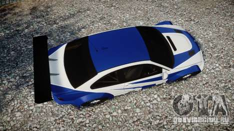 BMW M3 E46 GTR Most Wanted plate NFS для GTA 4 вид справа