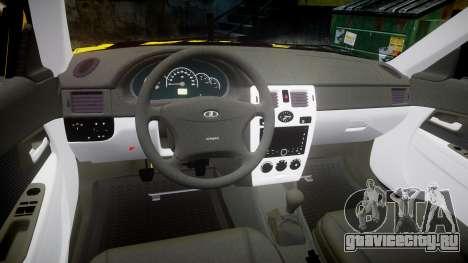 ВАЗ-2170 Lada Priora бродяга для GTA 4 вид изнутри