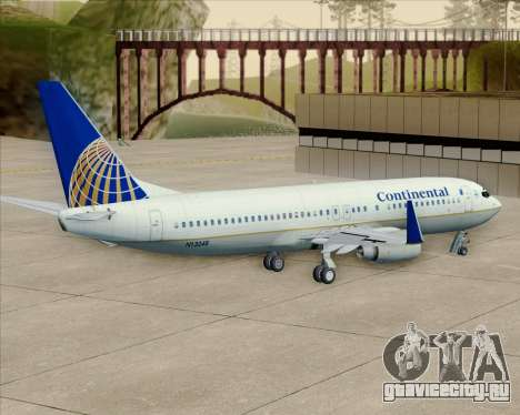 Boeing 737-800 Continental Airlines для GTA San Andreas вид изнутри