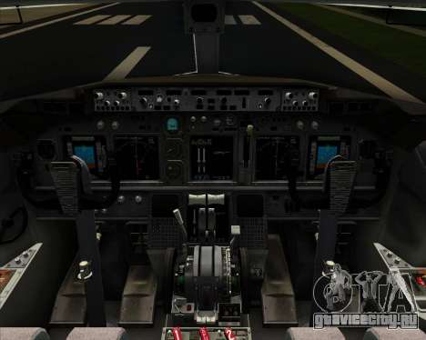 Boeing 737-800 United Airlines для GTA San Andreas двигатель