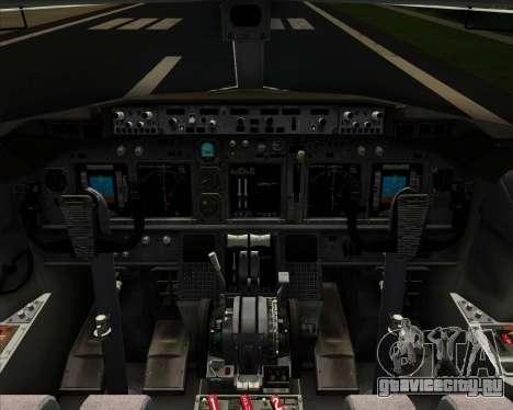 Boeing 737-800 United Airlines для GTA San Andreas двигатель
