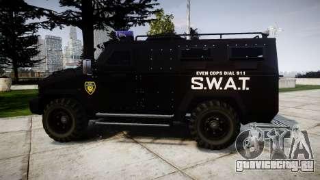 SWAT Van [ELS] для GTA 4 вид слева