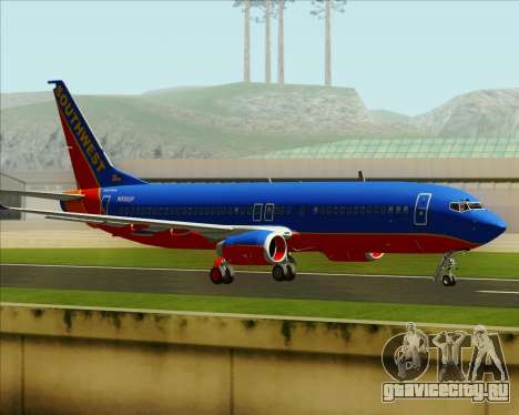 Boeing 737-800 Southwest Airlines для GTA San Andreas вид сбоку