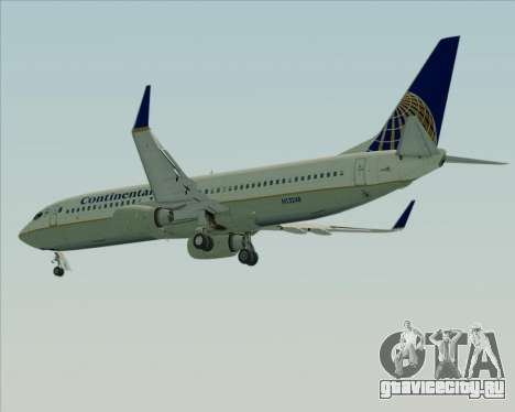 Boeing 737-800 Continental Airlines для GTA San Andreas вид сбоку