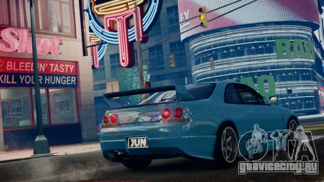 Nissan Skyline BCNR33 JUN VER для GTA 4 вид слева