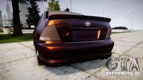 Toyota Altezza для GTA 4 вид сзади слева