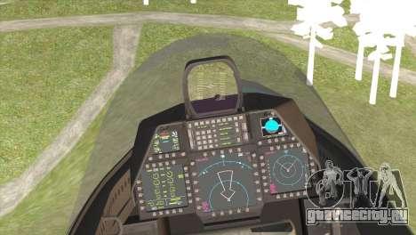 F-22A Raptor Unpainted Factory Texture для GTA San Andreas вид сзади слева