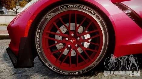 Chevrolet Corvette Z06 2015 TireMi2 для GTA 4 вид сзади