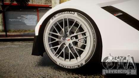 Chevrolet Corvette Z06 2015 TireMi3 для GTA 4 вид сзади