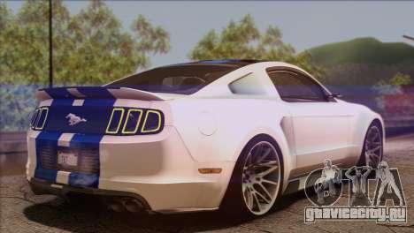 Ford Mustang GT 2012 для GTA San Andreas вид слева