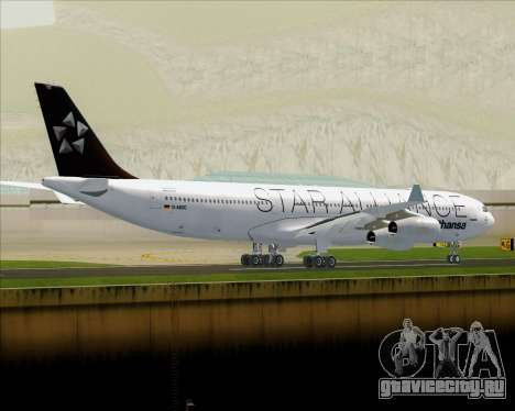 Airbus A340-300 Lufthansa (Star Alliance Livery) для GTA San Andreas вид сзади