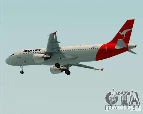 Airbus A320-200 Qantas для GTA San Andreas вид справа
