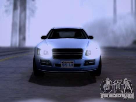 Obey Tailgater GTA V для GTA San Andreas вид справа
